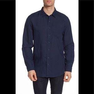Onia ABE linen solid slim shirt - NWT